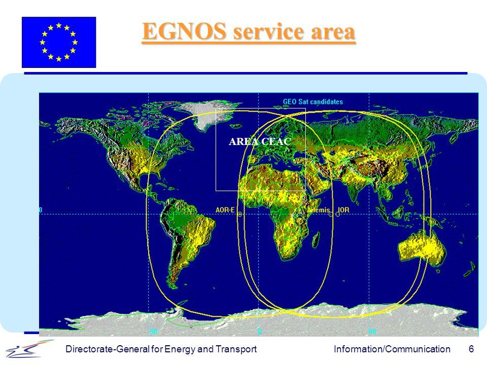 EGNOS service area AREA CEAC