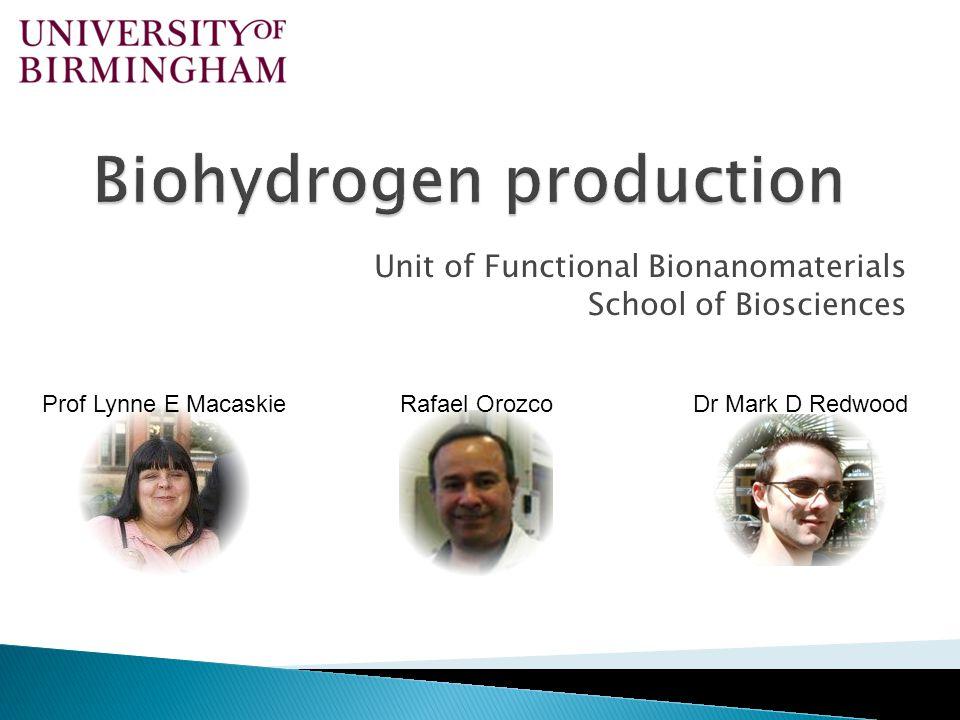 Biohydrogen production