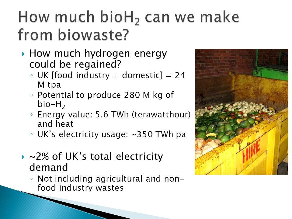 How much bioH2 can we make from biowaste