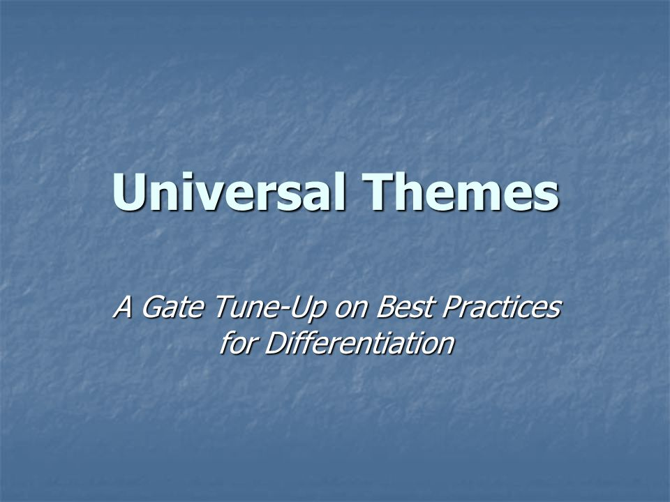 A Gate Tune-Up on Best Practices for Differentiation