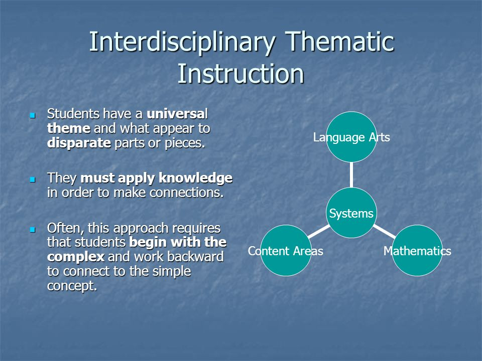 Interdisciplinary Thematic Instruction
