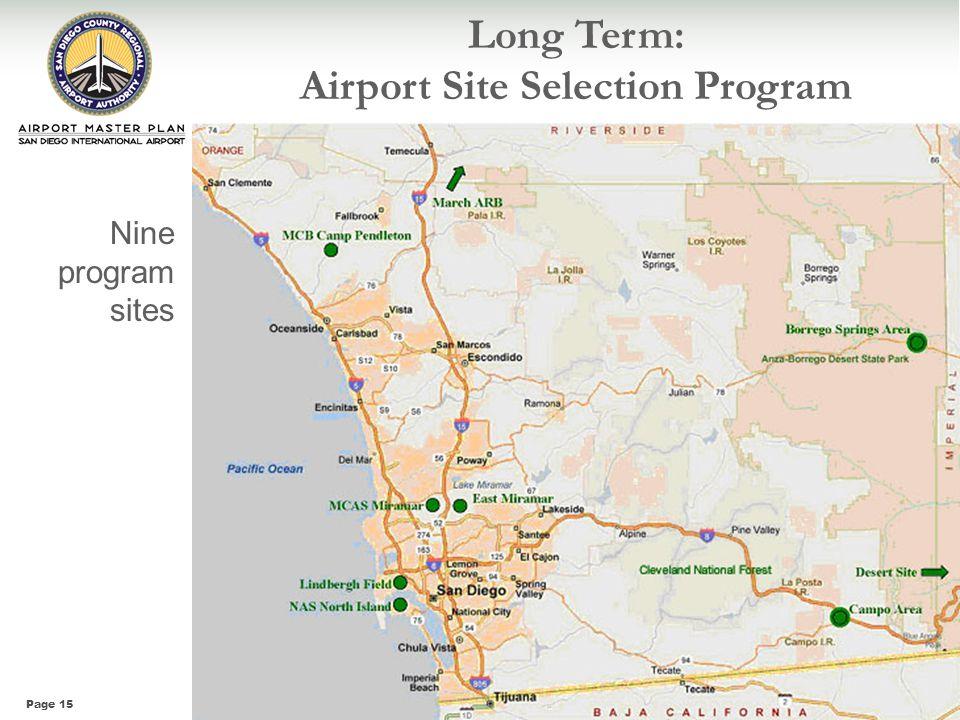 Long Term: Airport Site Selection Program