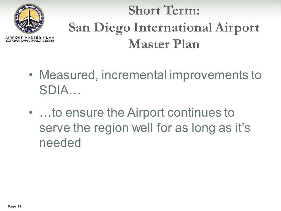 Short Term: San Diego International Airport Master Plan