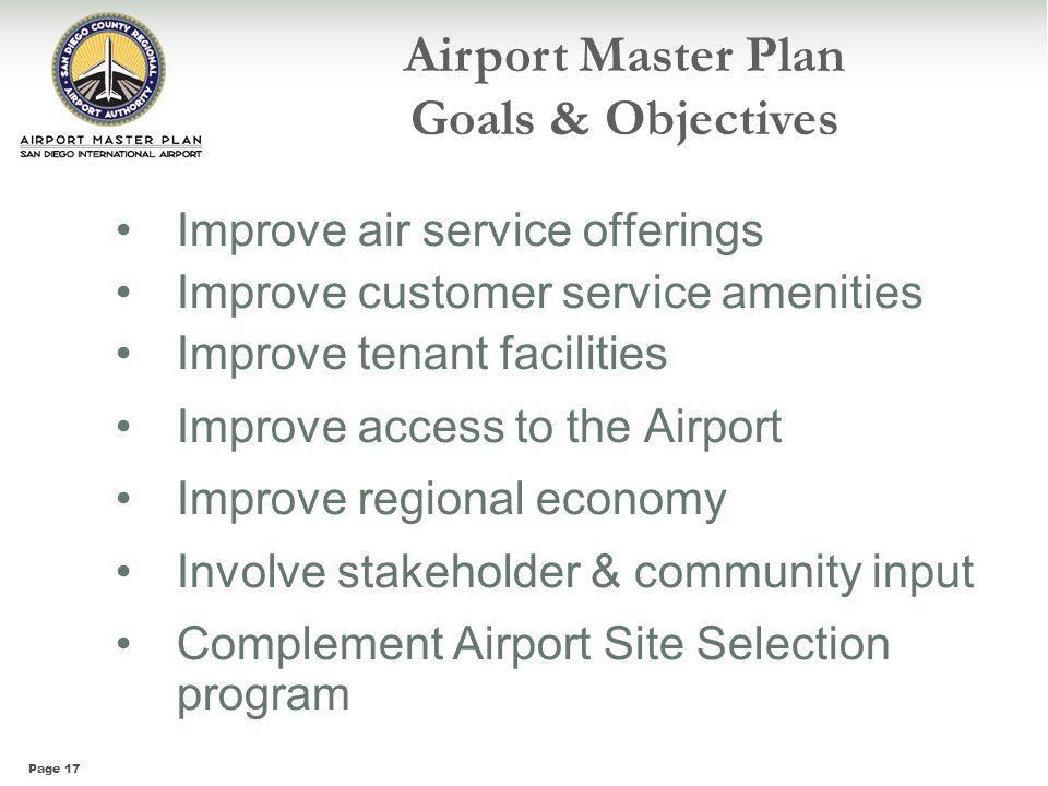 Airport Master Plan Goals & Objectives