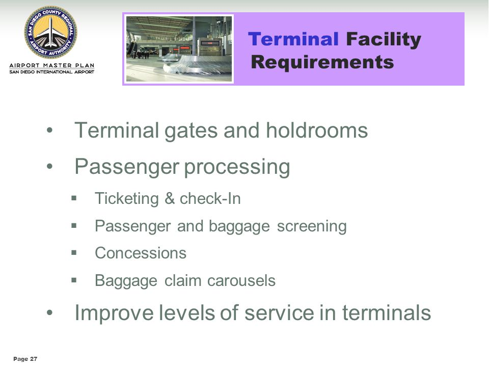 Terminal Facility Requirements