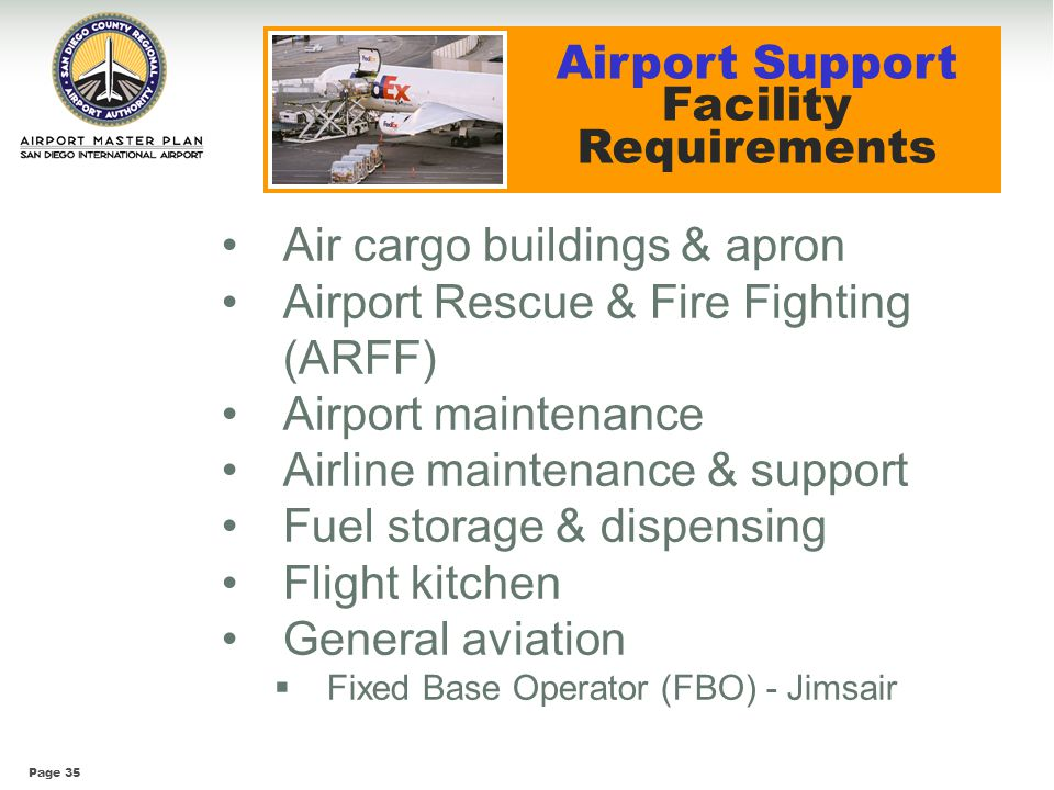 Airport Support Facility Requirements