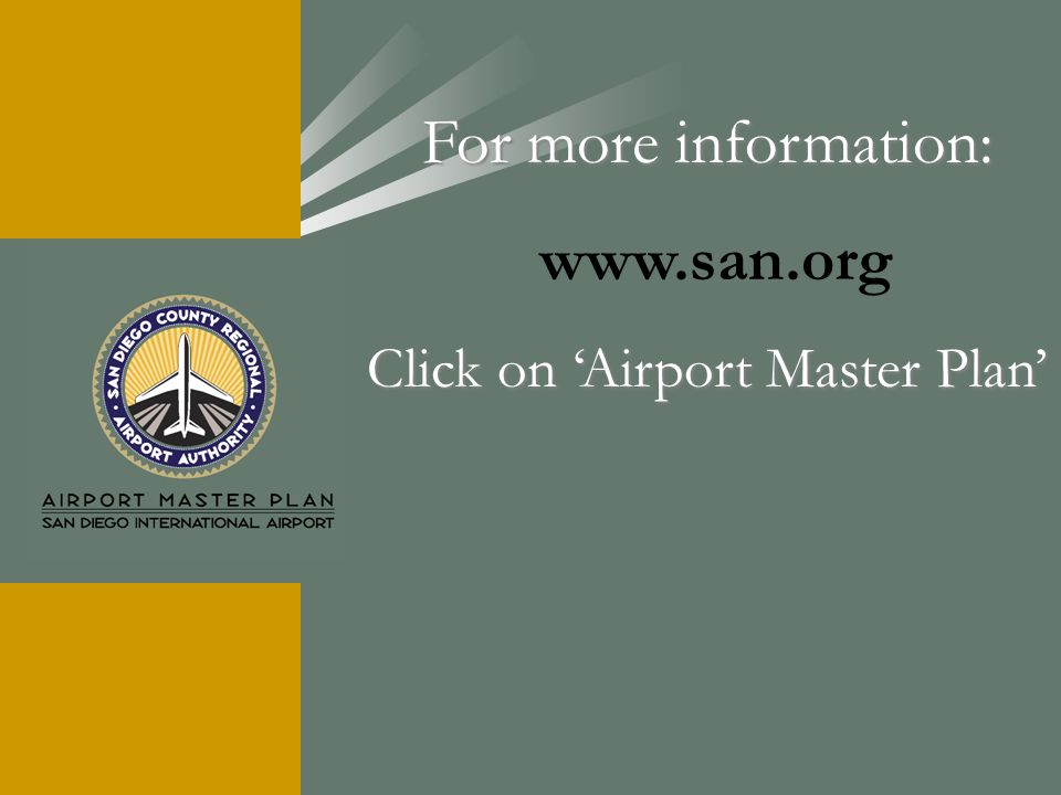 Click on 'Airport Master Plan'