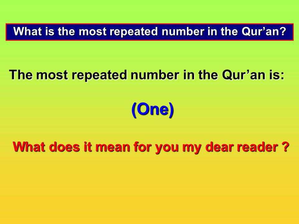What is the most repeated number in the Qur'an