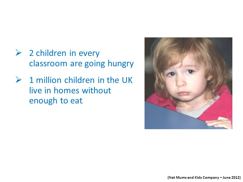 2 children in every classroom are going hungry