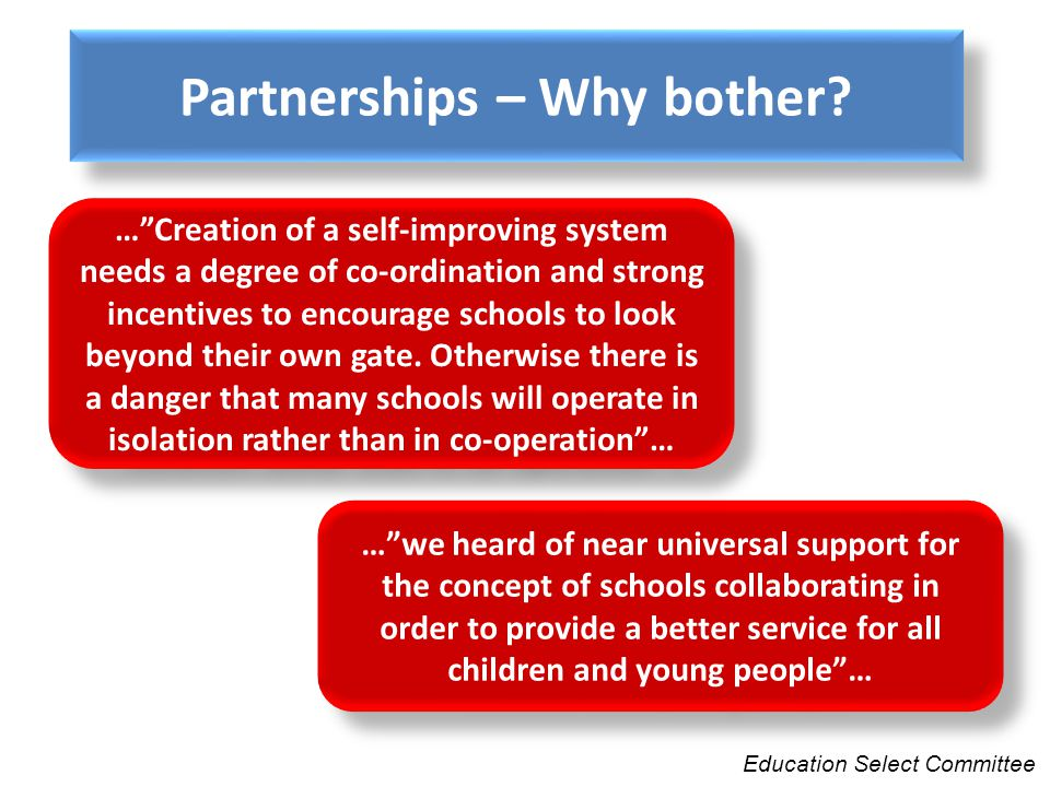 Partnerships – Why bother