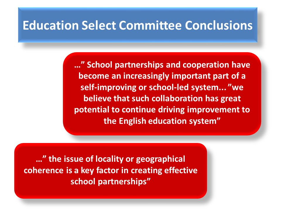 Education Select Committee Conclusions