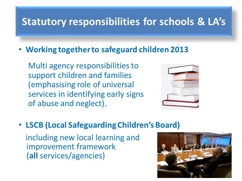 Statutory responsibilities for schools & LA's