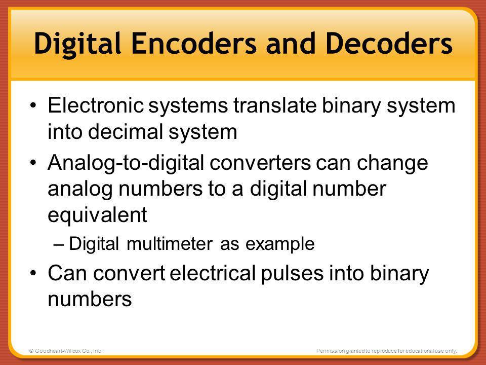 Digital Encoders and Decoders