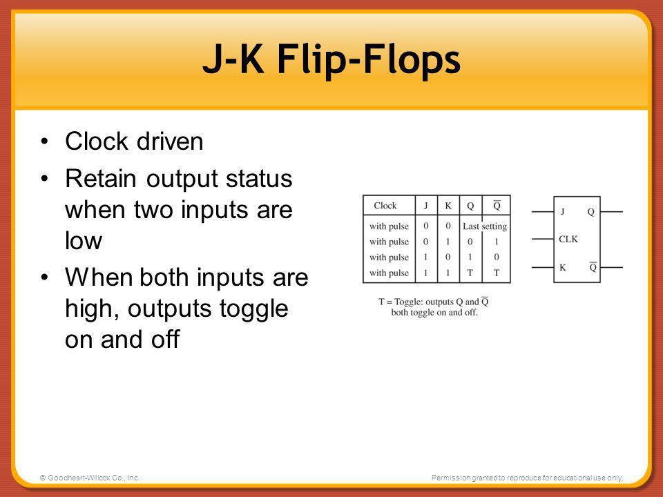 J-K Flip-Flops Clock driven