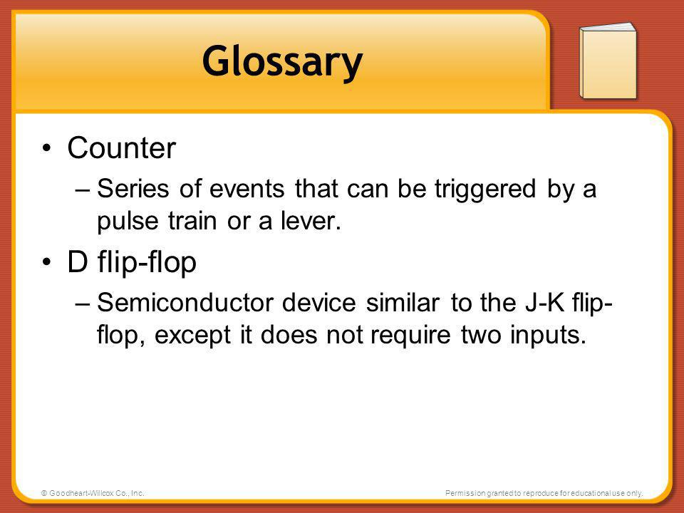 Glossary Counter D flip-flop