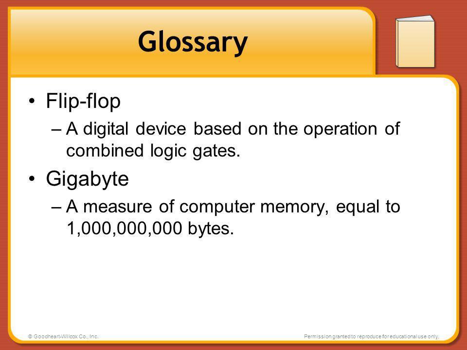 Glossary Flip-flop Gigabyte