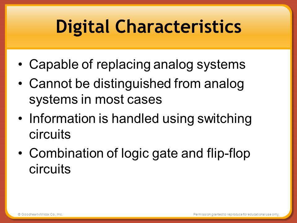 Digital Characteristics
