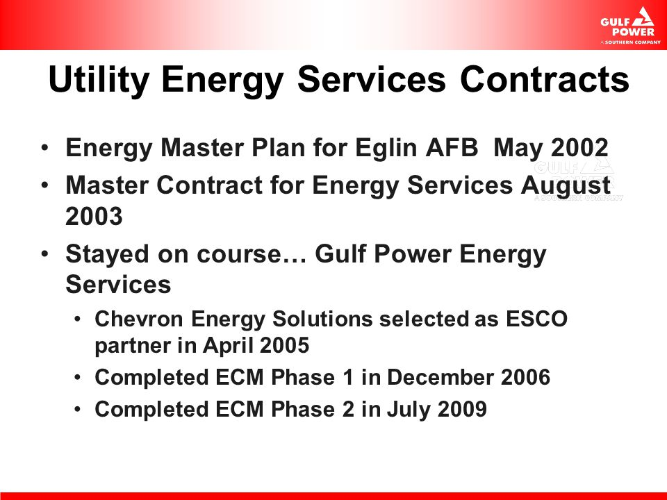 Utility Energy Services Contracts