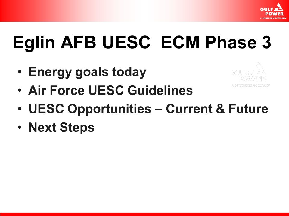 Eglin AFB UESC ECM Phase 3
