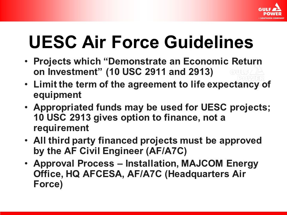 UESC Air Force Guidelines