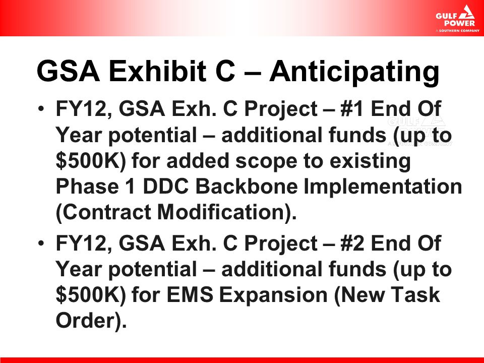 GSA Exhibit C – Anticipating