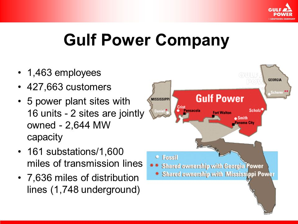 Gulf Power Company 1,463 employees 427,663 customers