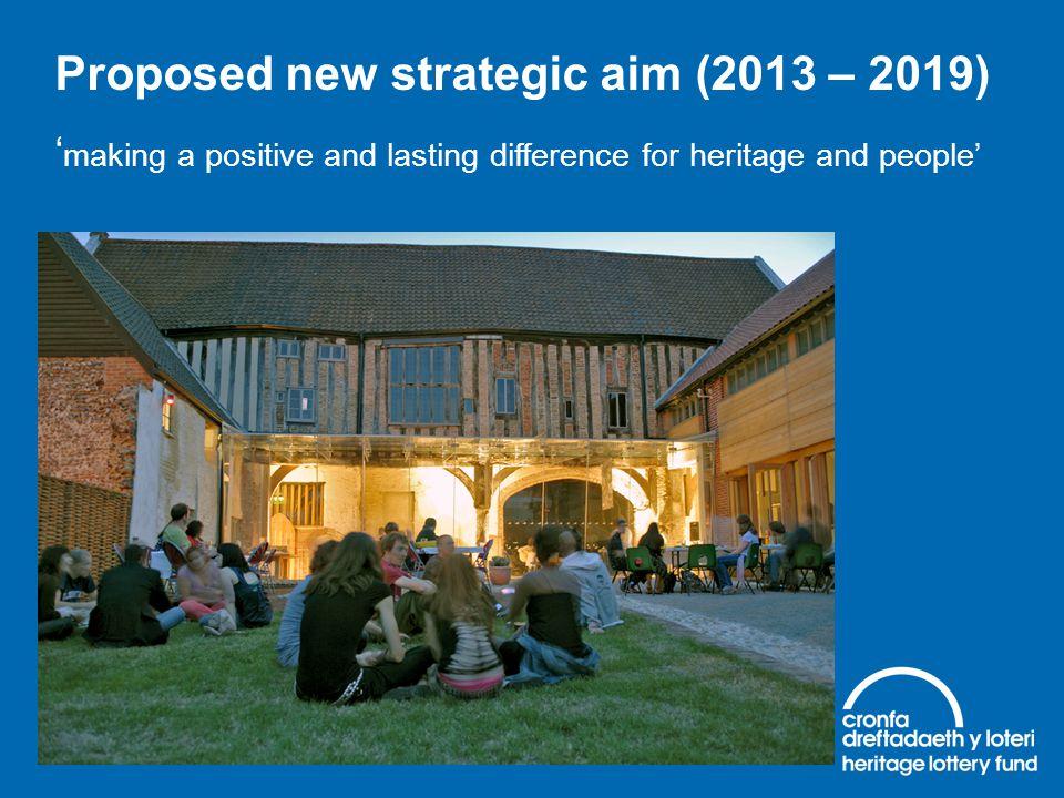 Proposed new strategic aim (2013 – 2019)
