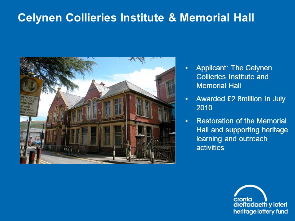 Celynen Collieries Institute & Memorial Hall