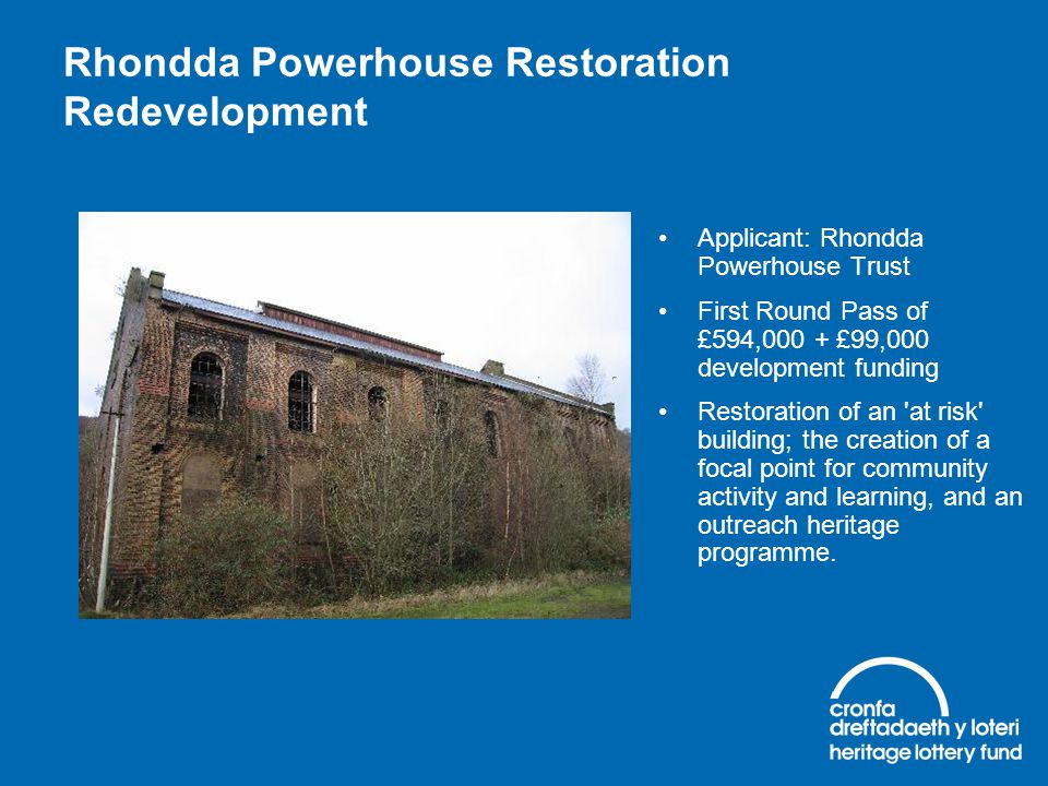Rhondda Powerhouse Restoration Redevelopment