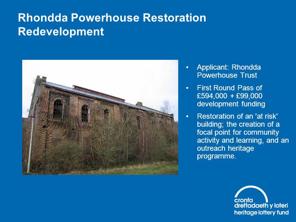 Rhondda Powerhouse Restoration Redevelopment