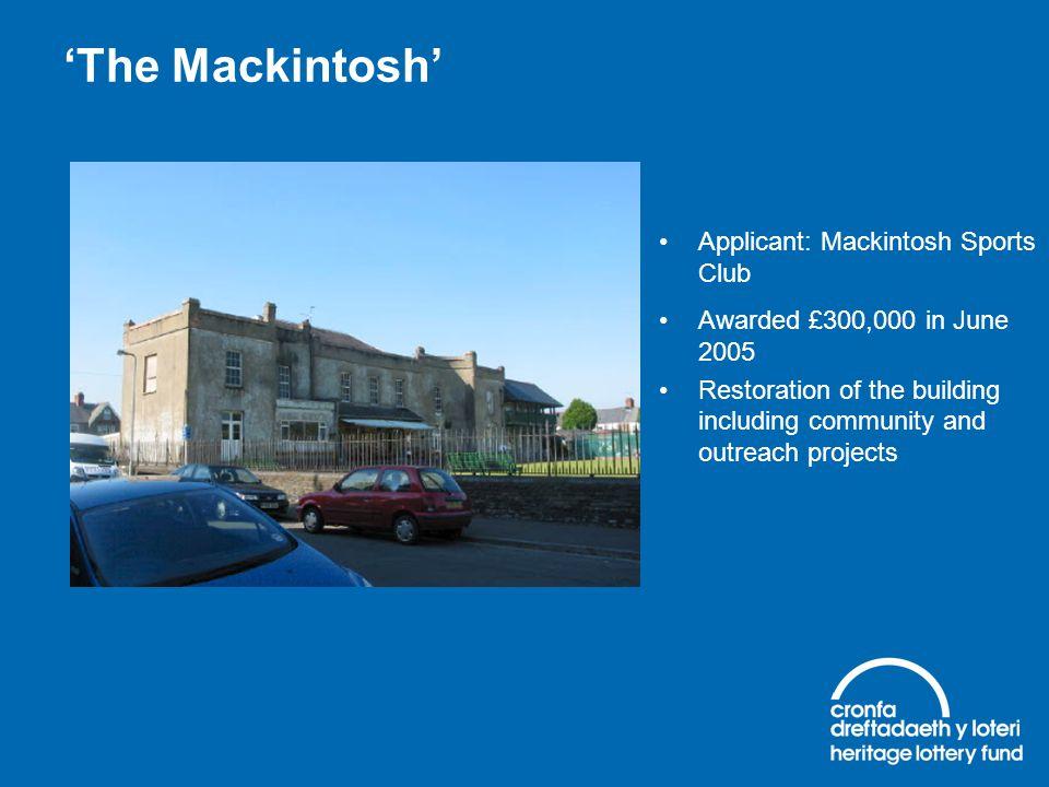 'The Mackintosh' Applicant: Mackintosh Sports Club