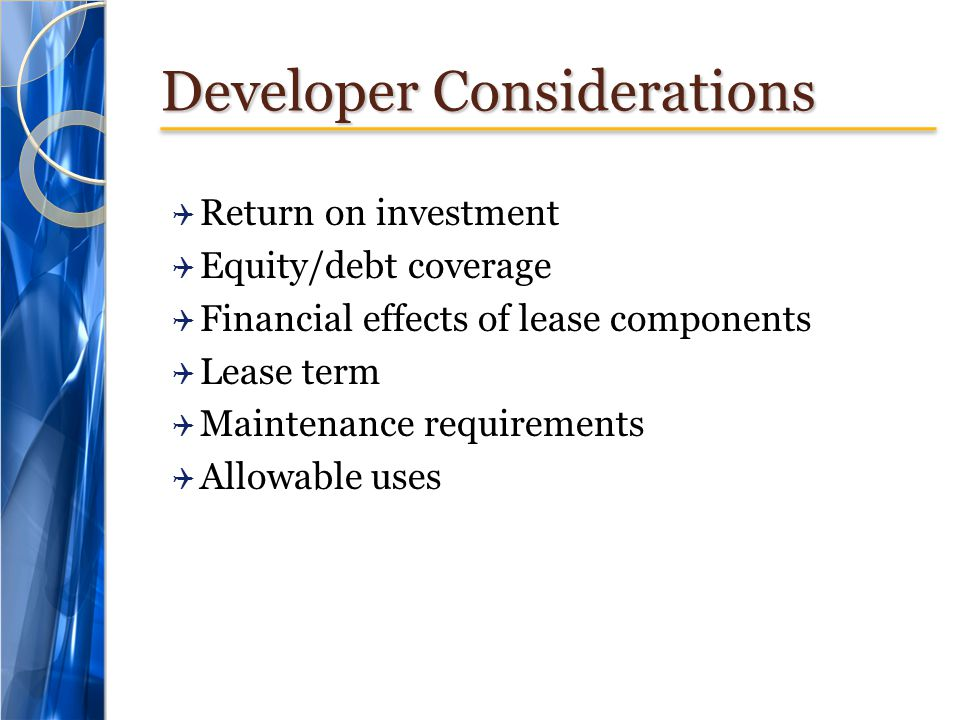 Developer Considerations