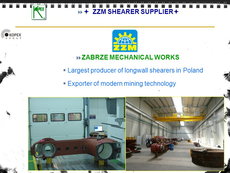  ZZM SHEARER SUPPLIER ZABRZE MECHANICAL WORKS