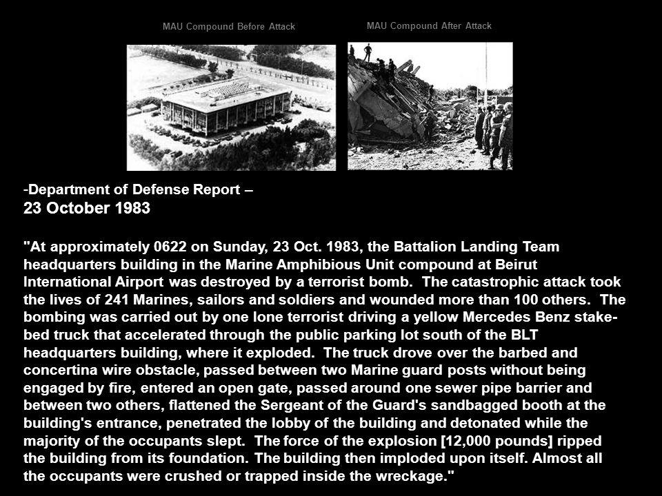 23 October 1983 Department of Defense Report –