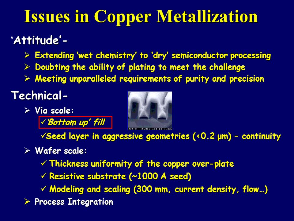 Issues in Copper Metallization