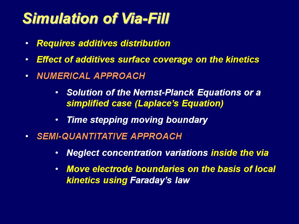 Simulation of Via-Fill