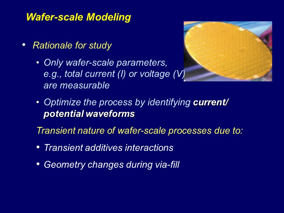 Wafer-scale Modeling Rationale for study