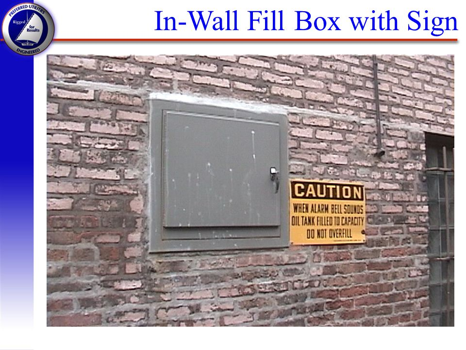 In-Wall Fill Box with Sign