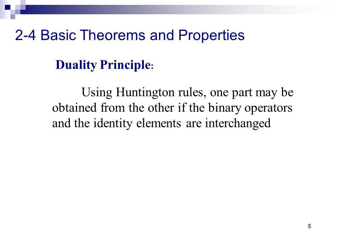 2-4 Basic Theorems and Properties