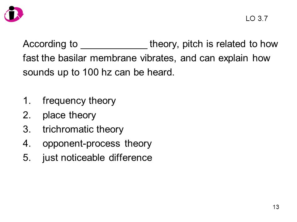 According to ____________ theory, pitch is related to how