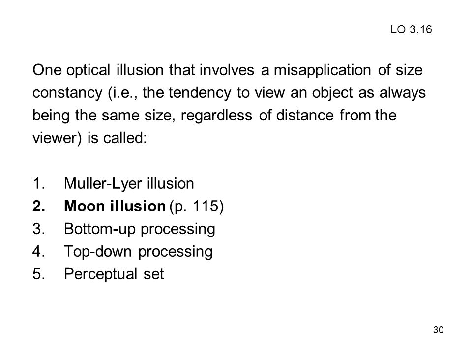 One optical illusion that involves a misapplication of size