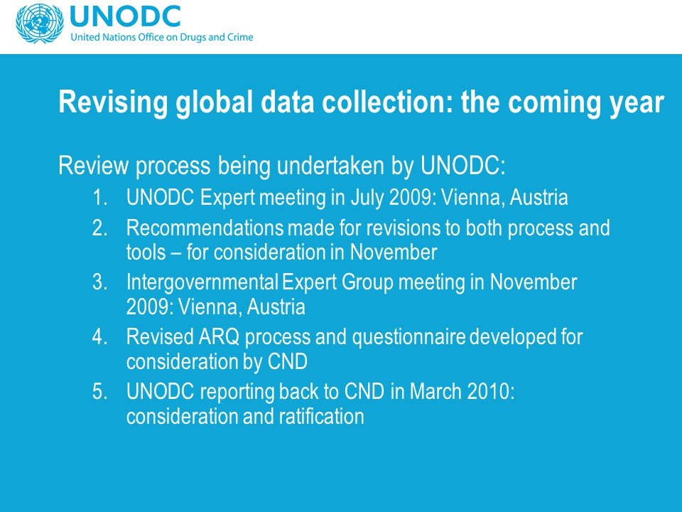 Revising global data collection: the coming year