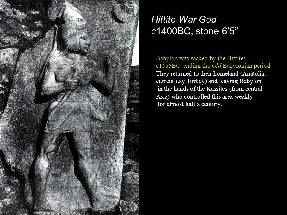 Hittite War God c1400BC, stone 6'5