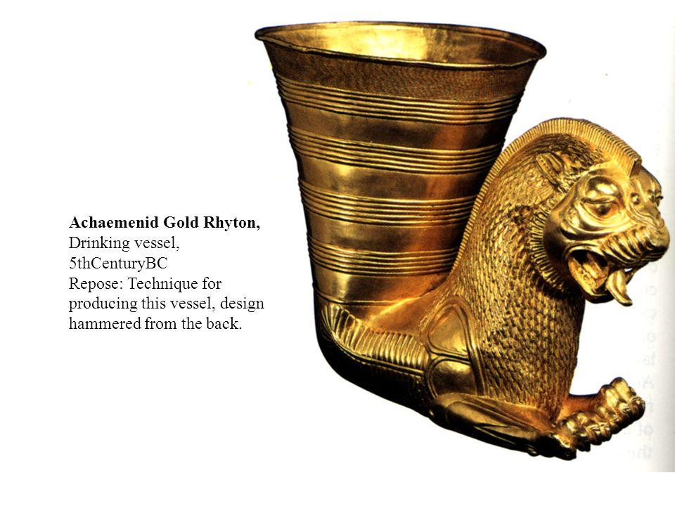 Achaemenid Gold Rhyton, Drinking vessel, 5thCenturyBC