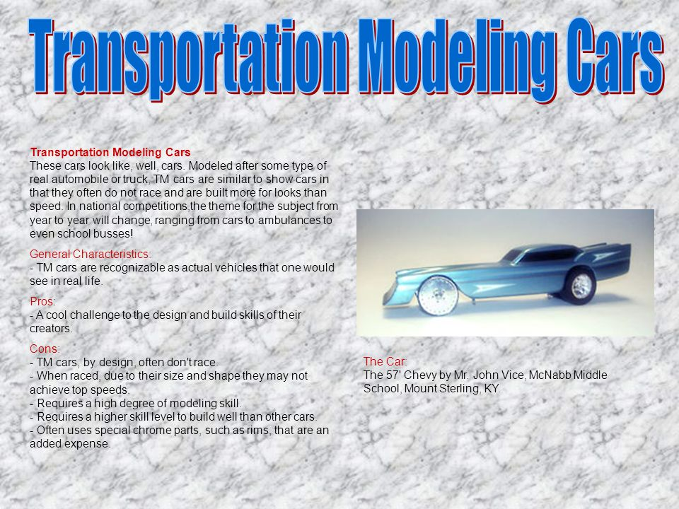 Transportation Modeling Cars