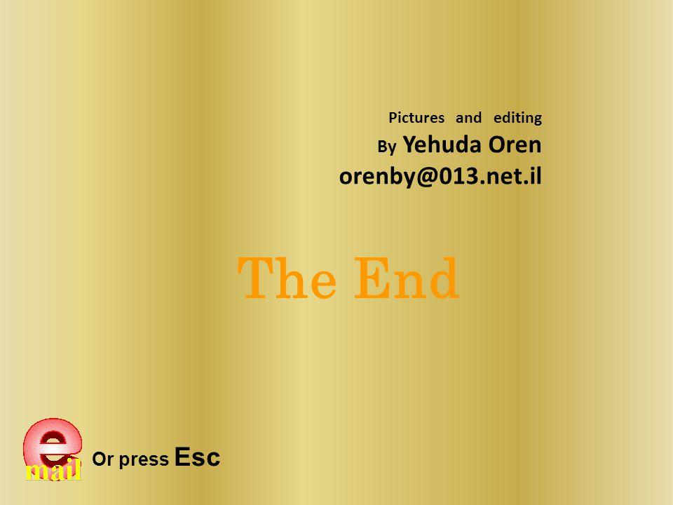 The End orenby@013.net.il By Yehuda Oren Or press Esc