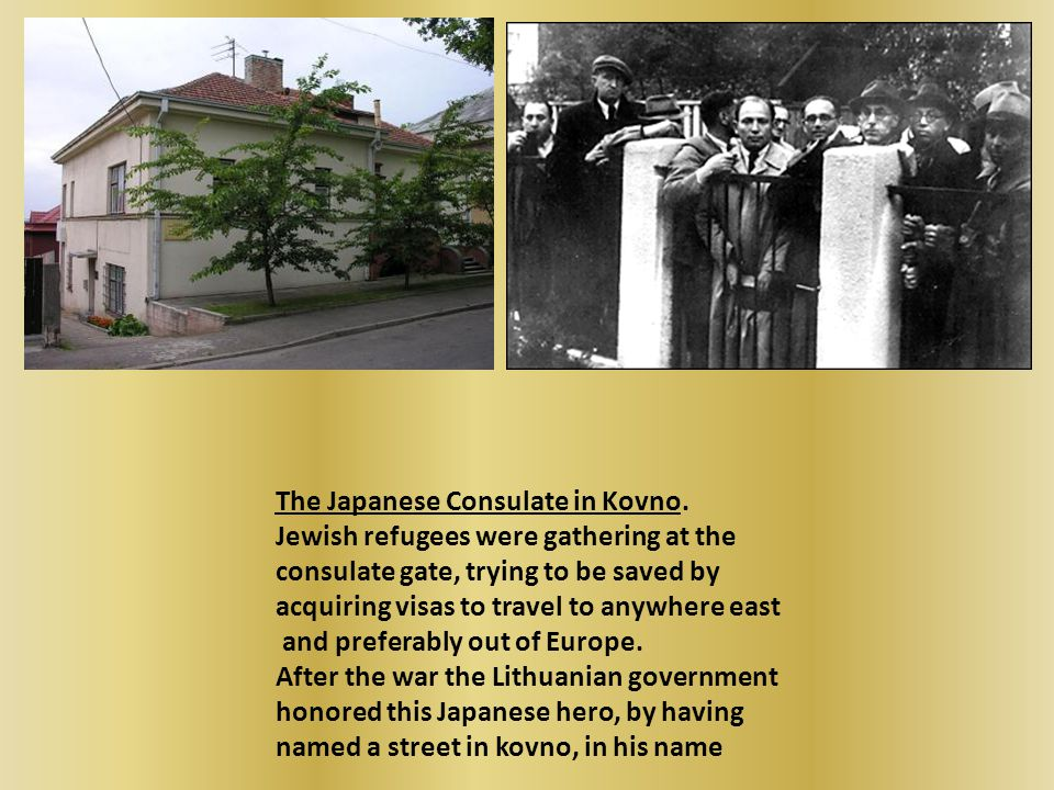 The Japanese Consulate in Kovno.