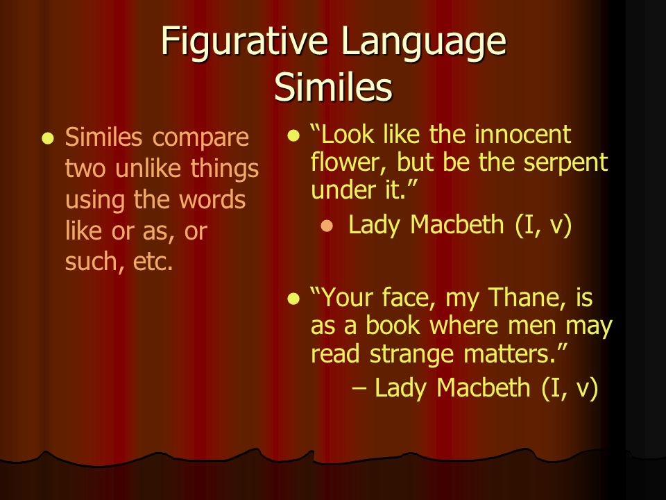 Figurative Language Similes