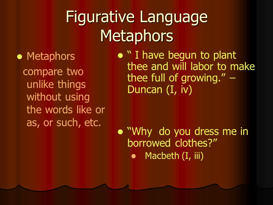 Figurative Language Metaphors
