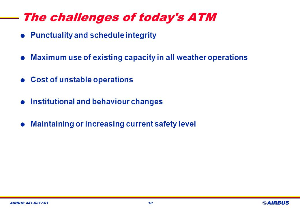 The challenges of today s ATM